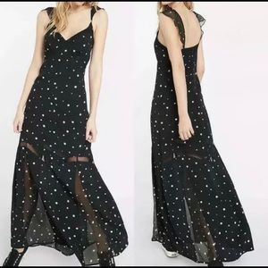 Star Printed Maxi Dress